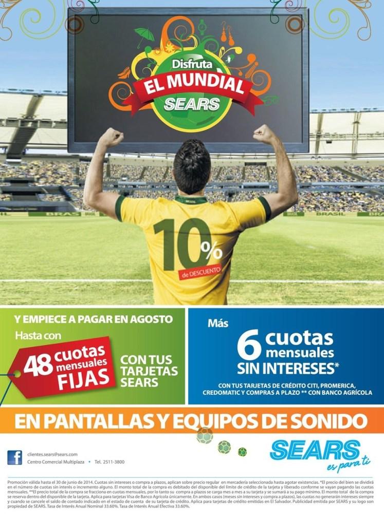 PROMOCIONES y descuentos mundial brazil SEARS - 06jun14