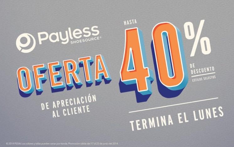 Payless shoesource OFERTA descuentos al cliente - 20jun14