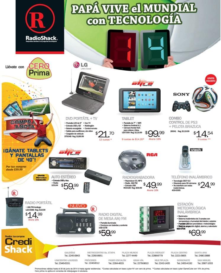 Radio TV DV stereos tecnologia metereologica TODO para PAPA en radioshack - 16jun14