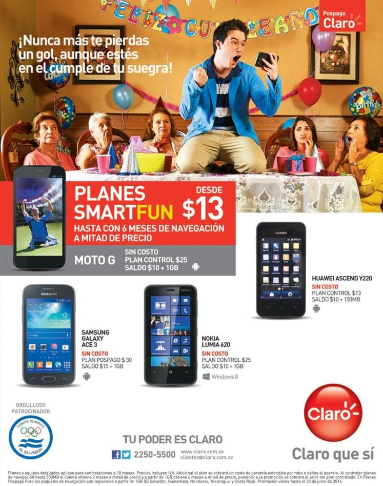Sigue disfrutando del MNDIAL con los smart fun de CLARO ofertas - 14jun14