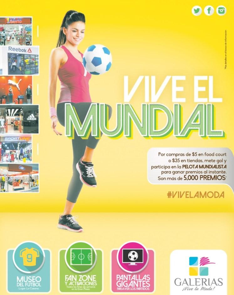 VIVE el Mundial 2014 en GALERIAS vive a la MODA san salvador