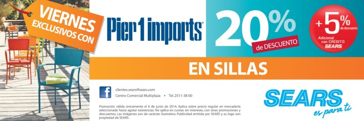 Viernes exclusivos con PIER 1 imports SEARS - 06jun14