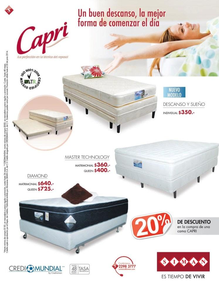 asi es delicioso comenzar el dia CAPRI camas buen descanso - 26jun14