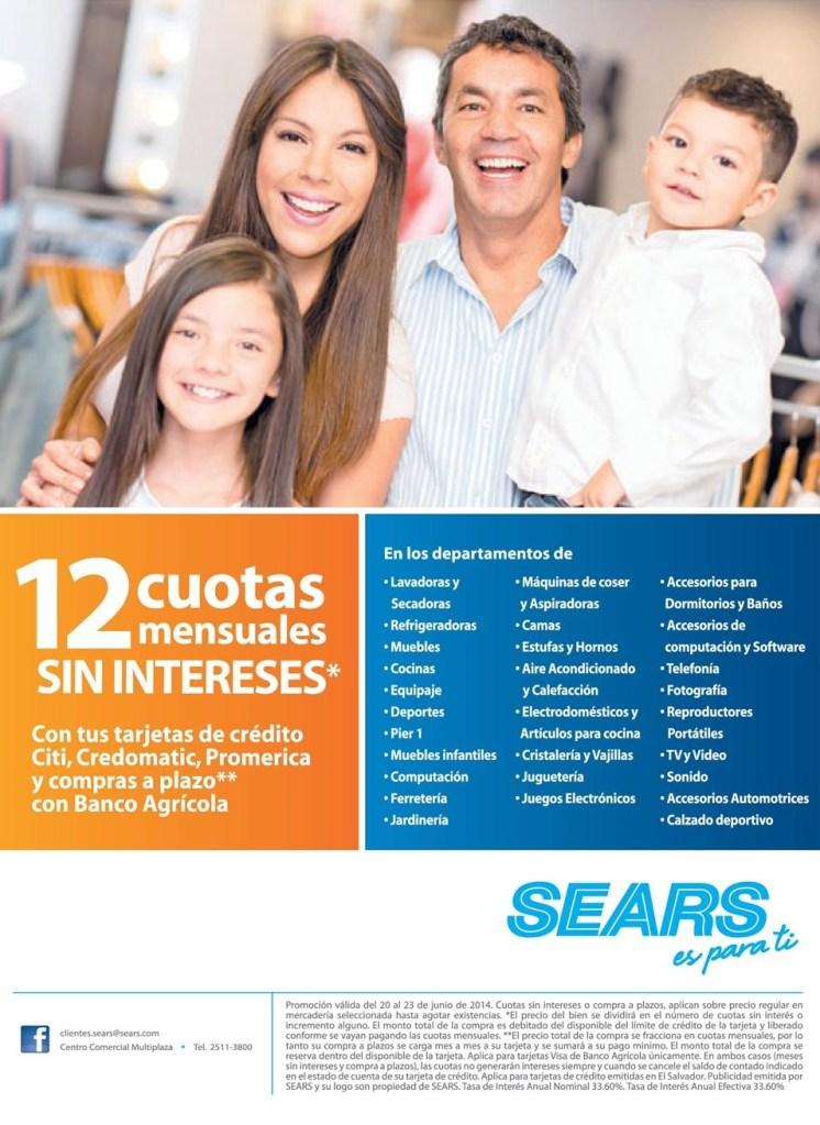 facilidades de pago en almacenes SEaRS - 21jun14