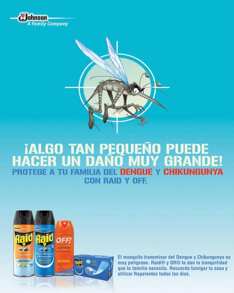 repelente anti zancudos RAID OFF Jhonsona family company