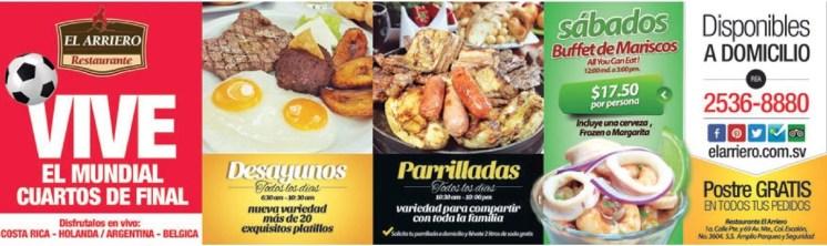 Desayunos Parrilladas Mariscos Postres