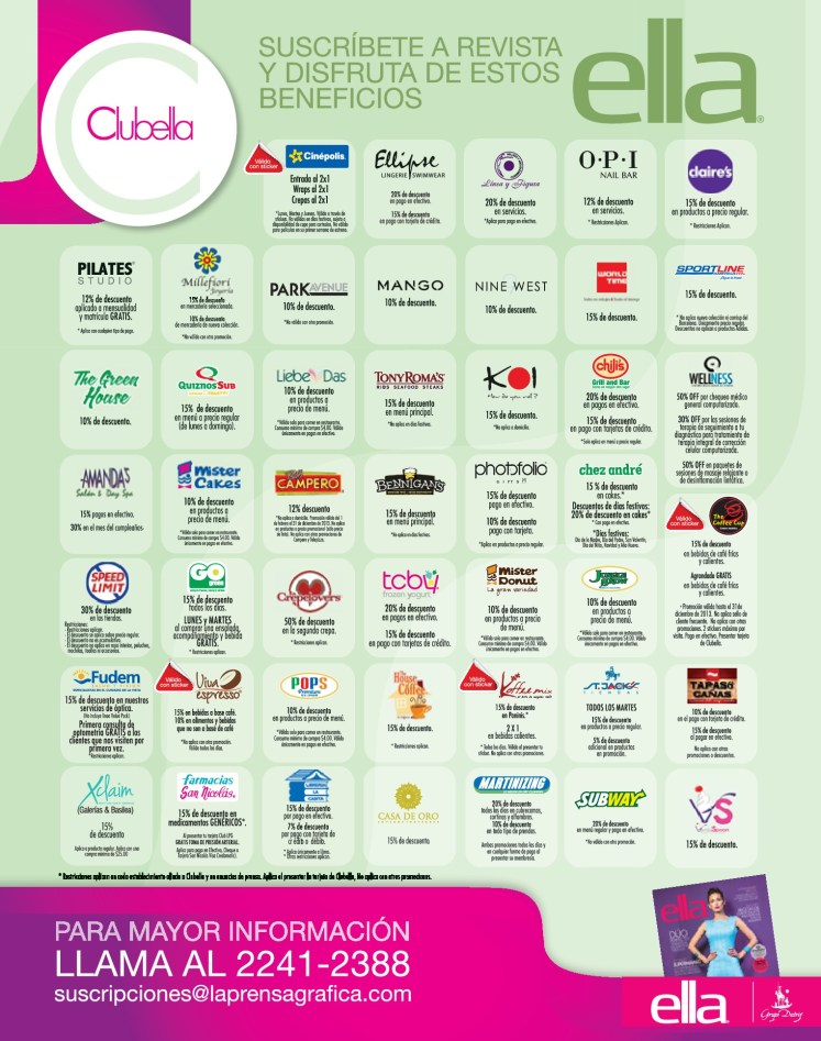 ELLA revista para mujeres BENEFICIOS y Descuentos - 02jul14