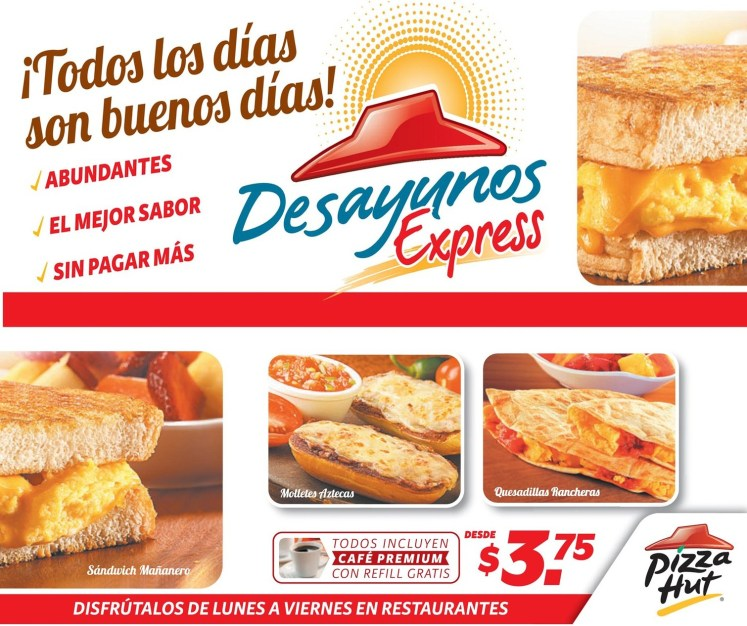 breakfast express PIZZA HUT promotions - 07jul14