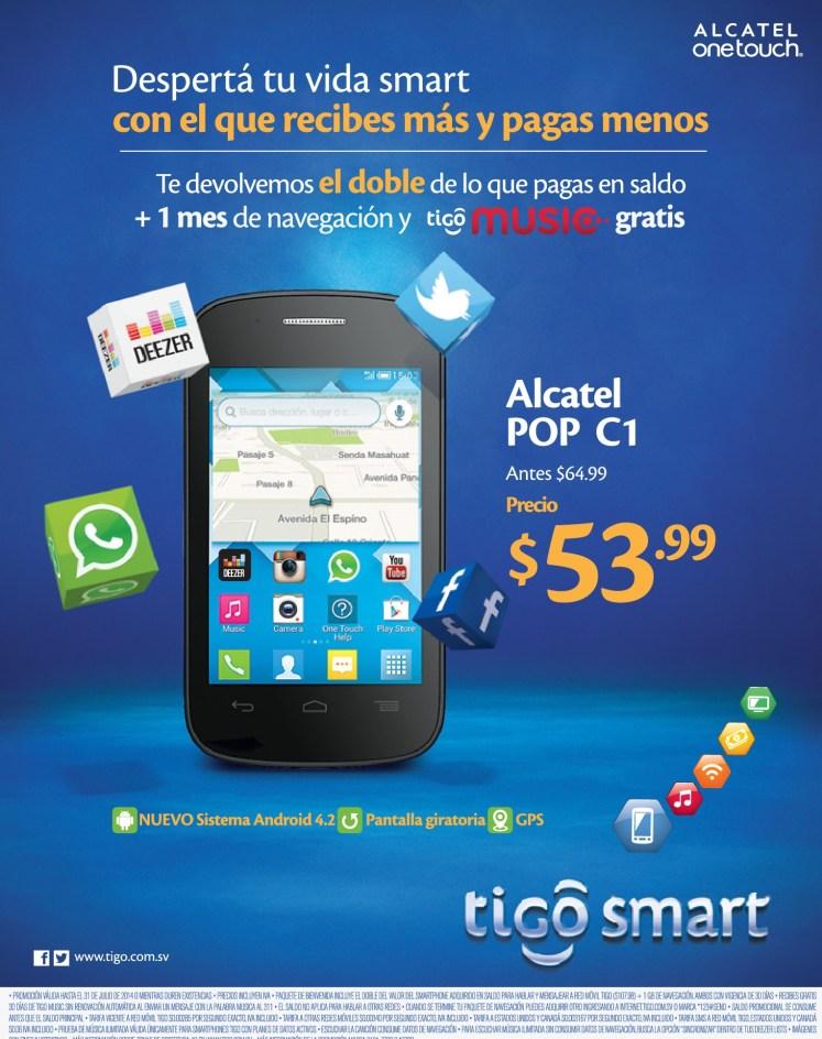 give up SMArtPHONE alcatel onetouch TIGO promotion - 07jul14