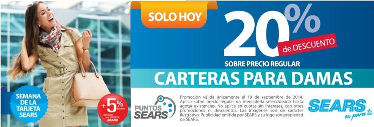 CHICAS carteras para DAMAS con descuentos - 19sep14