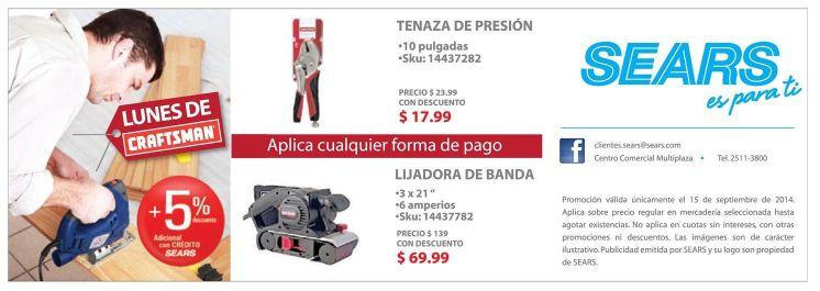 CRAFTSMAN tools lijadora tenazas y mas - 15sep14