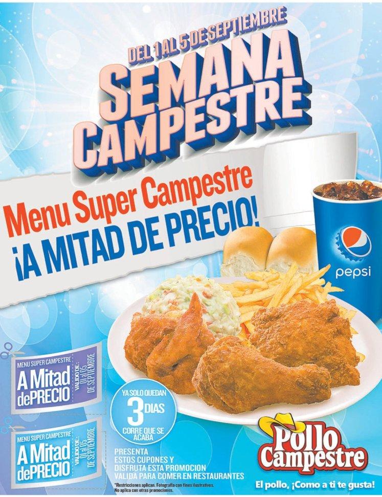 Como te gusta el POLLO cupones pollo campestre - 03sep14
