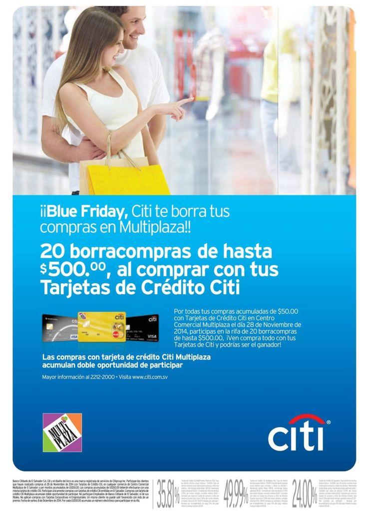 Blue friday borra compras CITI BANK - 27nov14