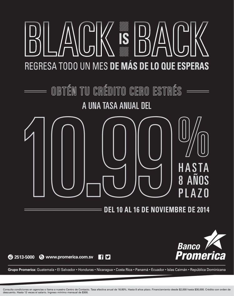 Credir financial promotions BLACK is back - 10nov14