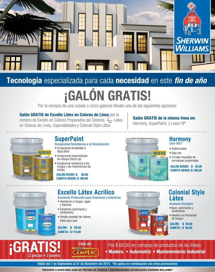 GRATIS por la compra de tus productos sherwin williams - 24nov14