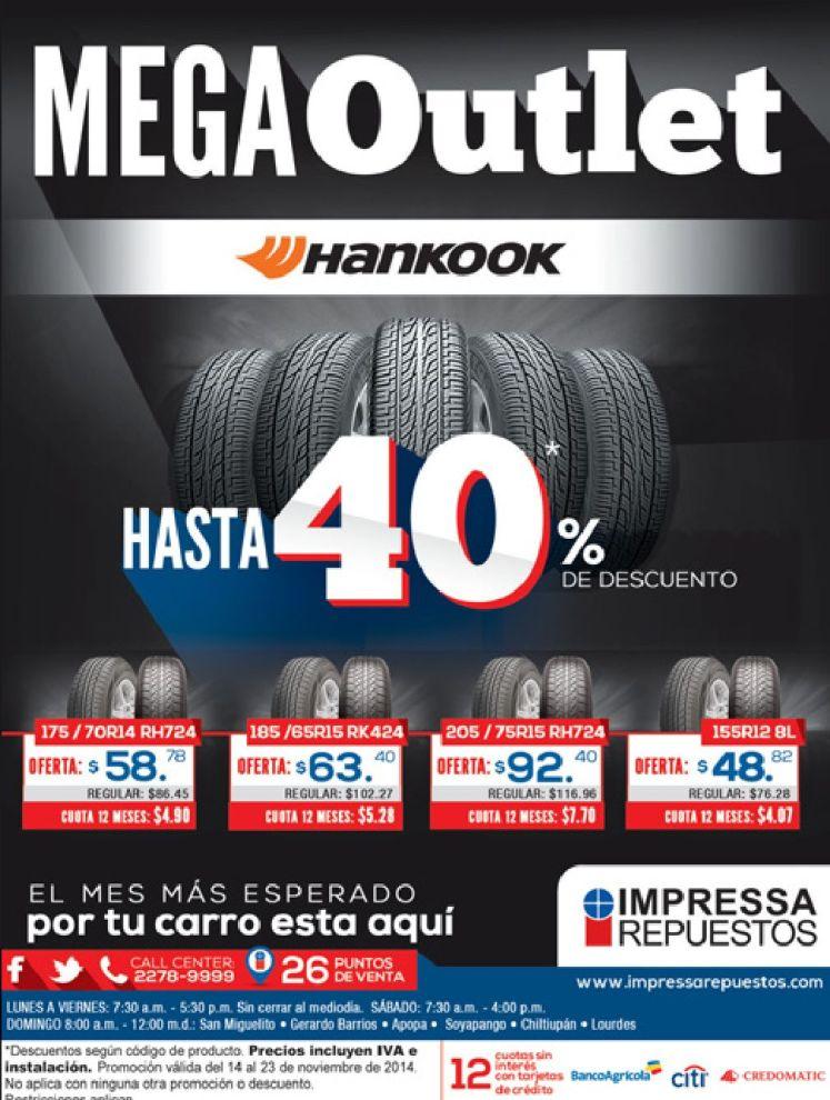 MEGA OUTLET tires hankook - 14nov14