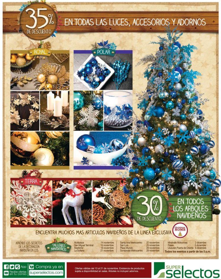 SUPER SELECTOS offers luces accesorios y adornos navidad descuentos - 13nov14