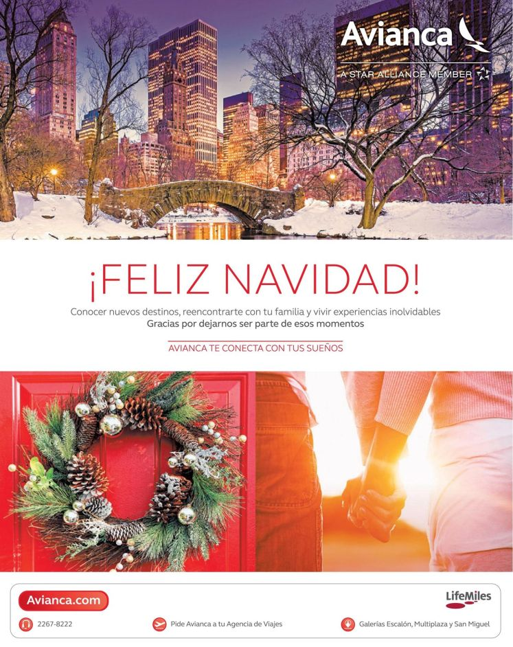 AVIANCA te lleva una feliz navidad viajando - 24dic14