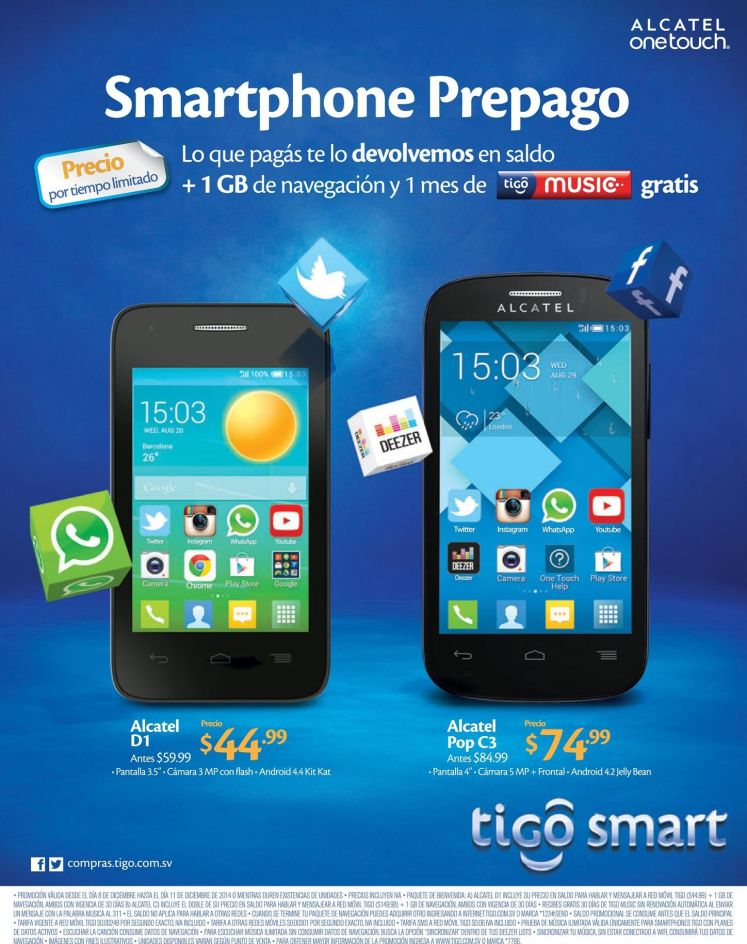 BUY smartphone alcatel christmas promotion - 08dic14