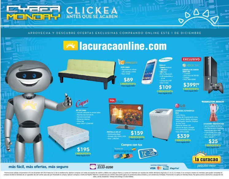 CYBER MONDAY la curacao ofertas online - 01dic14