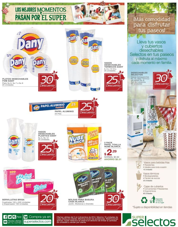 Productos reciclables en super selectos - 02dic14