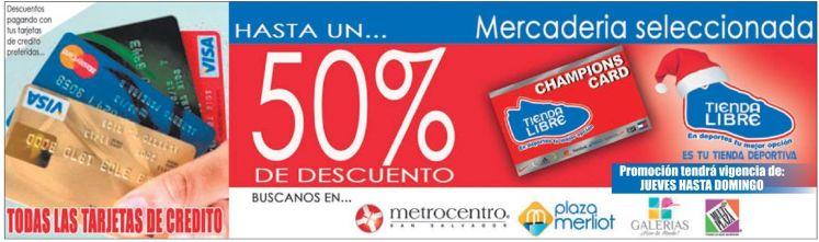 Tienda libre CHAMPIONS CARD promotion - 04dic14