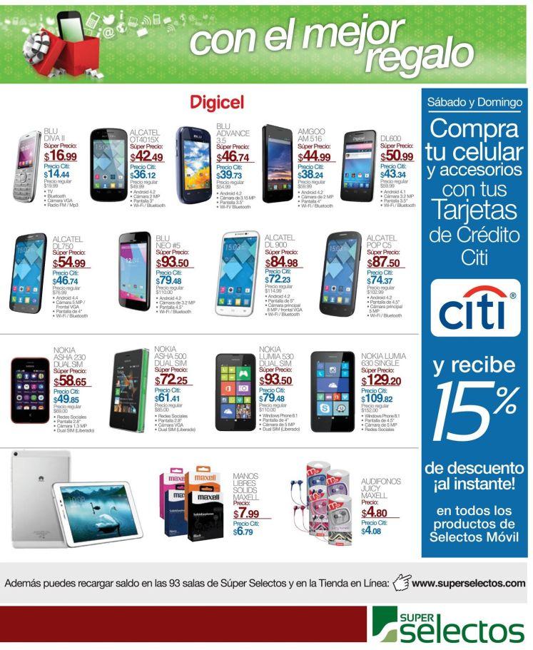 celulares nuevos en navidad SUPER SELECTOS - 19dic14
