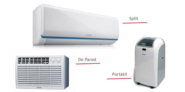 Tipos de aire acondicionado mas presupuestados