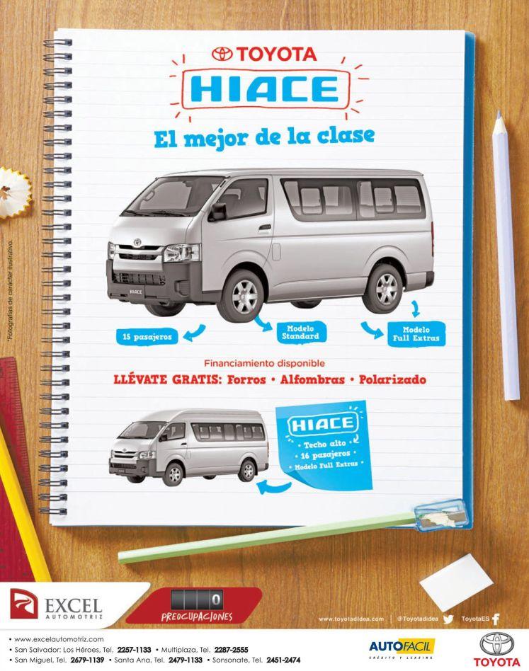 Toyota HIACE suv micro bus promotion