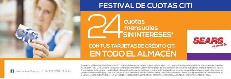 festival de cuotas CITI en almacen SEARS - 24ene15