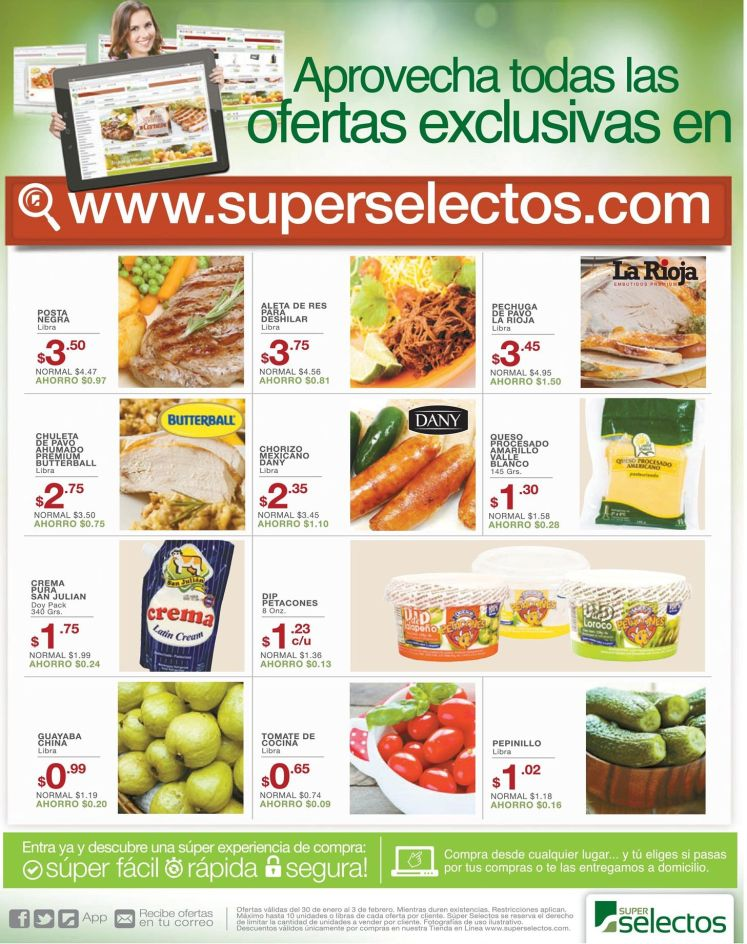 supermarket ONLINE shopping SUPER SELECTOS savings - 30ene15