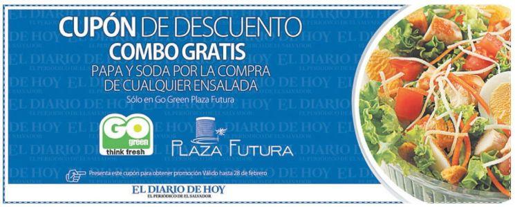 CUPON GO green think fresh SALAD en plaza futura - 10feb15