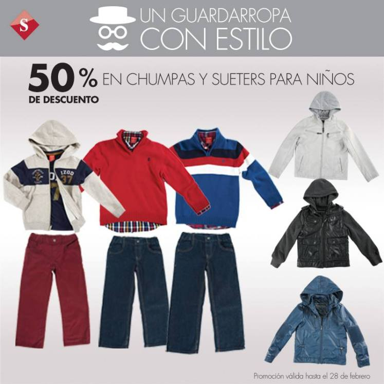 Descuento chumpas y sueters for kids hasta 28feb15