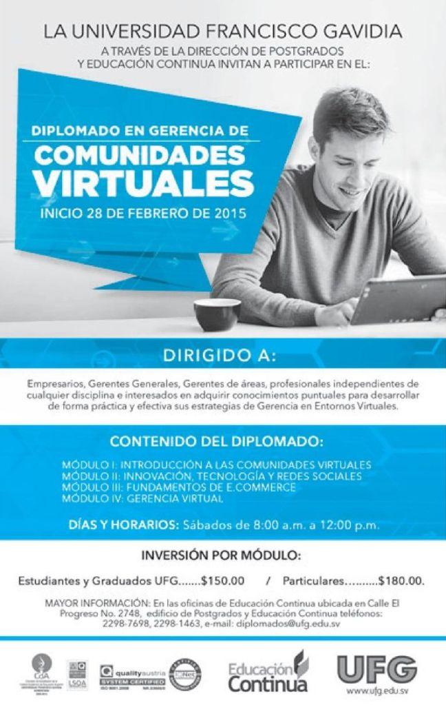 Diplomado en gerencia de comuniades cirtuales UFG
