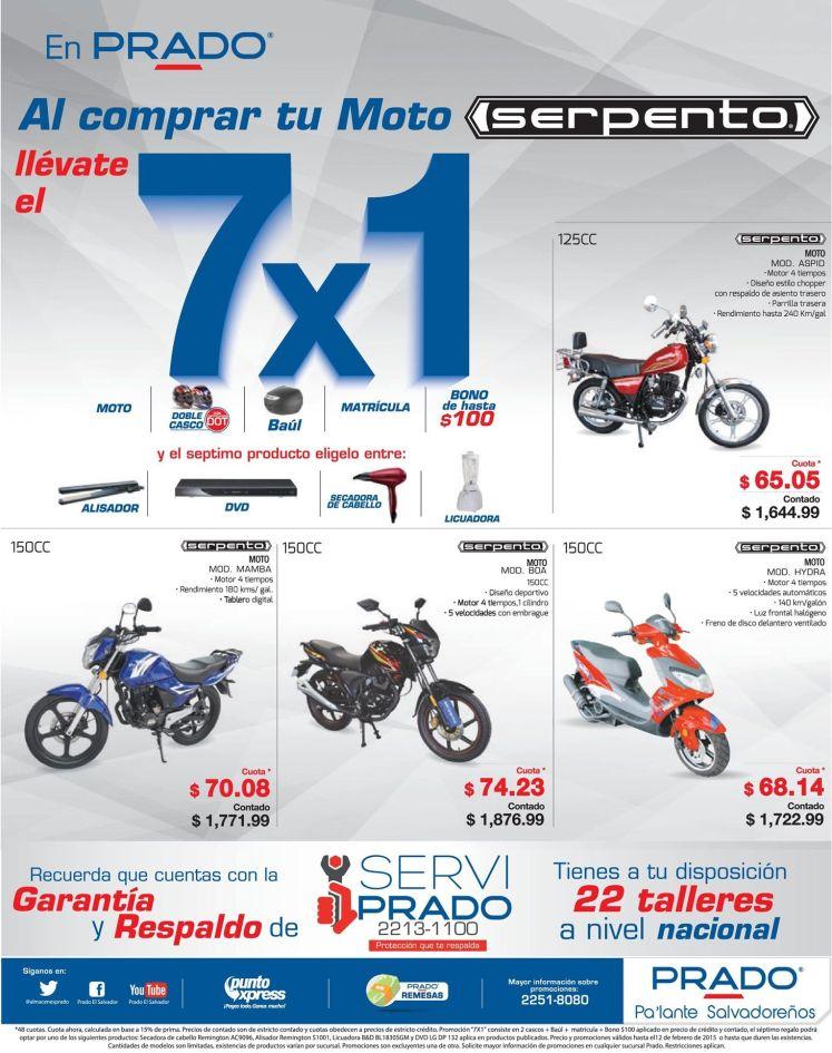 Promcion 7x1 al coprar tu moto en PRADO - 09feb15