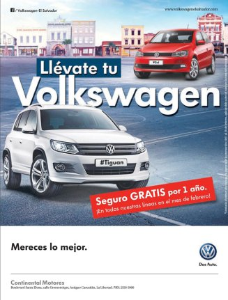 TIGUAN model volkswagen FREE INSURANCE for one year - 11feb15