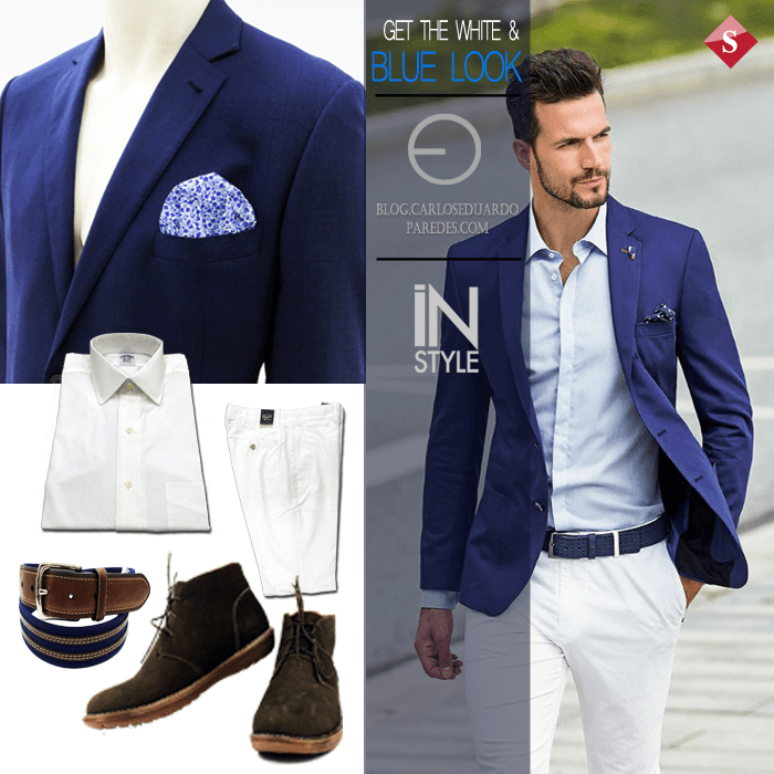 get the white and BLLU LOOK to office day