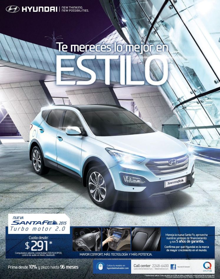 new HYUNDAI santa fe 2015 turbo motor 2.0