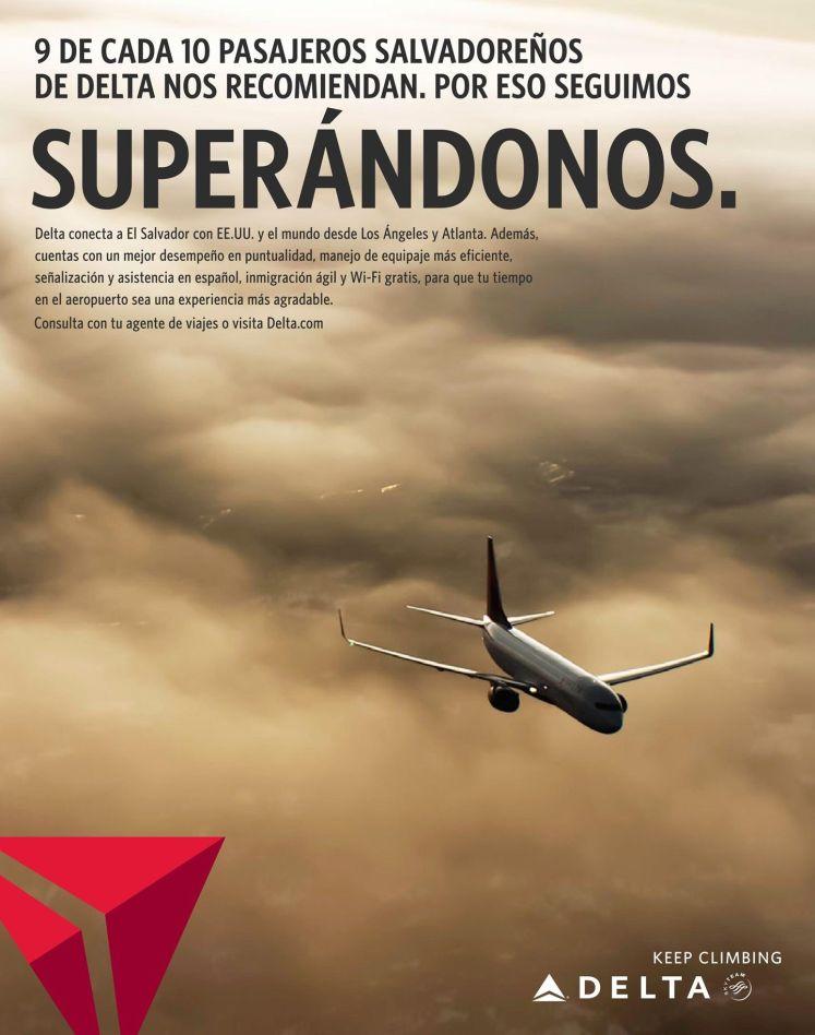 DELTA airlines viajes el salvador EEUU