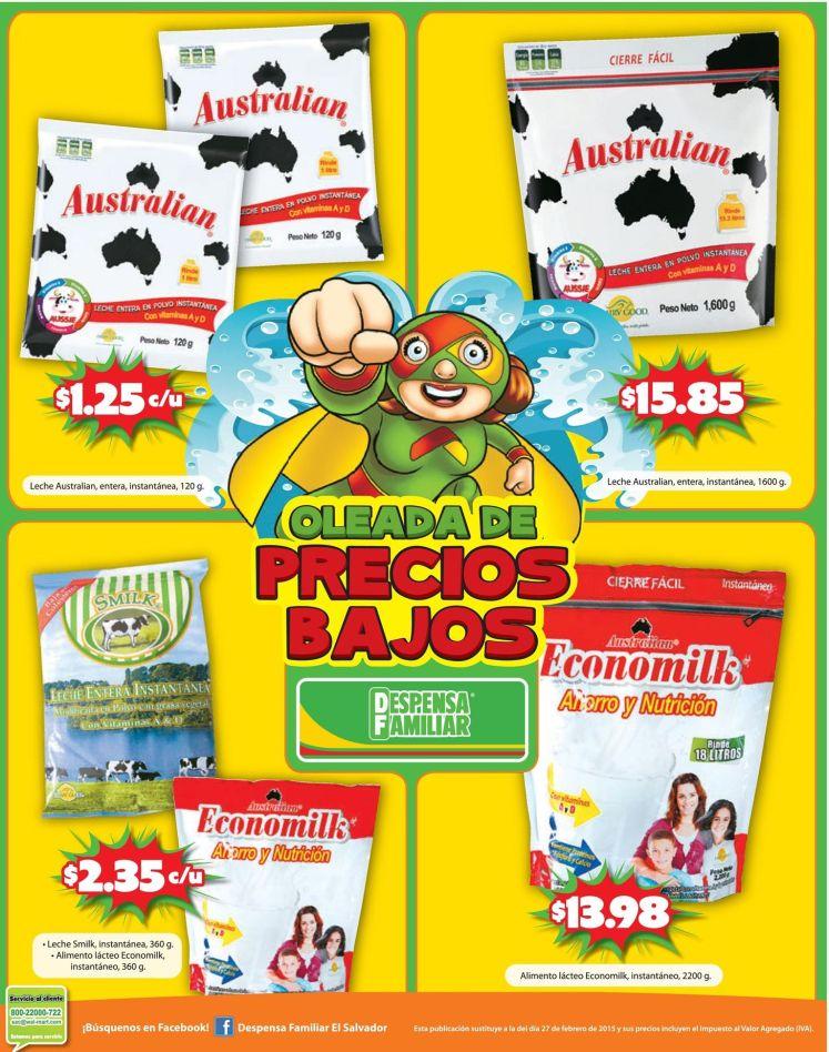 Despensa familiar ofertas en leche entera en polvo - 13mar15