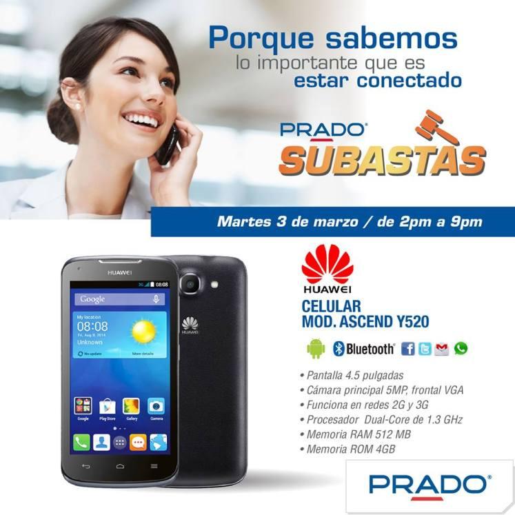 Hoy PRADO SUBASTAS celular huawei - 03mar15