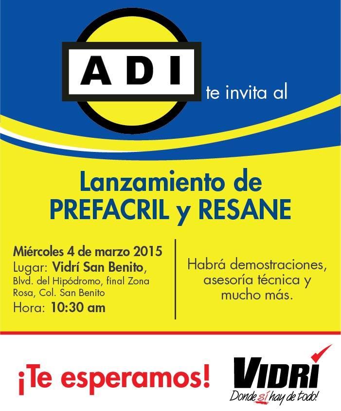Lanzamiento de PREFACIL y RESANE ferreteria VIDRI - 04mar15
