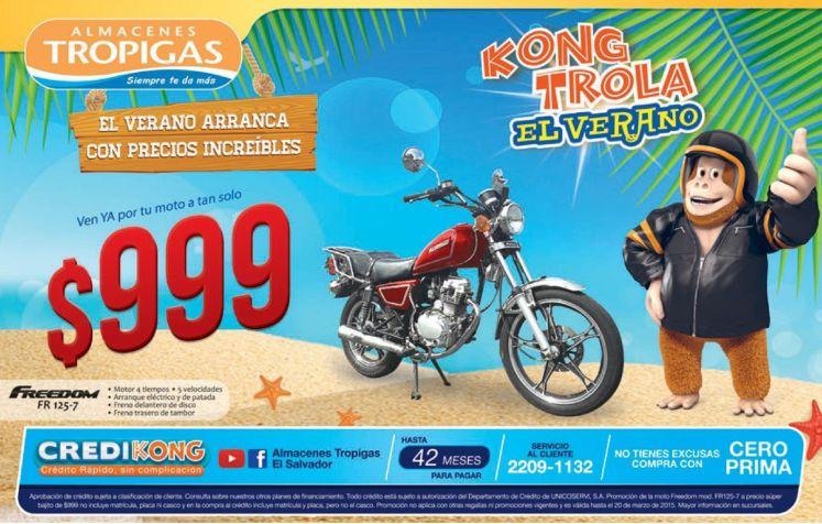 MOTO FREEDOM 999 dolares una promocion de verano tropigas - 13mar15
