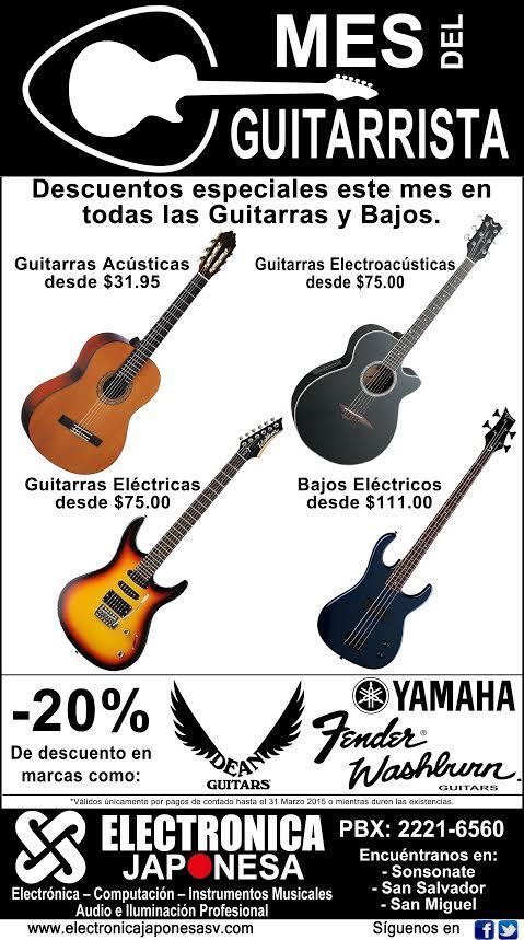 Mes de la guitarra PROMOCIONES electronica japonesa - mar15