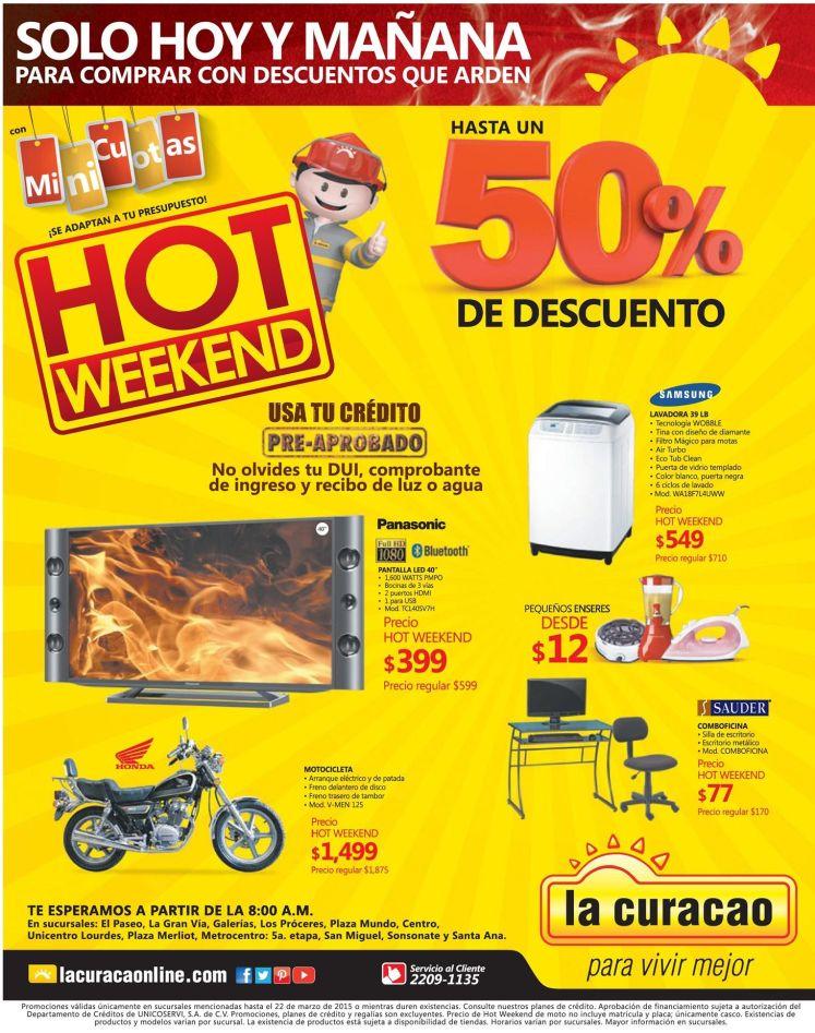 Mini cuotas HOT WEEKEND la curacao promociones - 21mar15