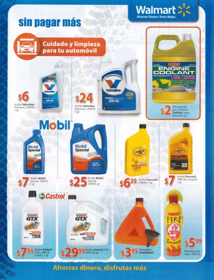 Ofertas en productos de cuidado y limpieza para tu automovil