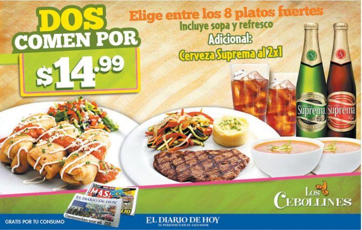 Promocion 2x1 restaurante los cebollines - 26mar15