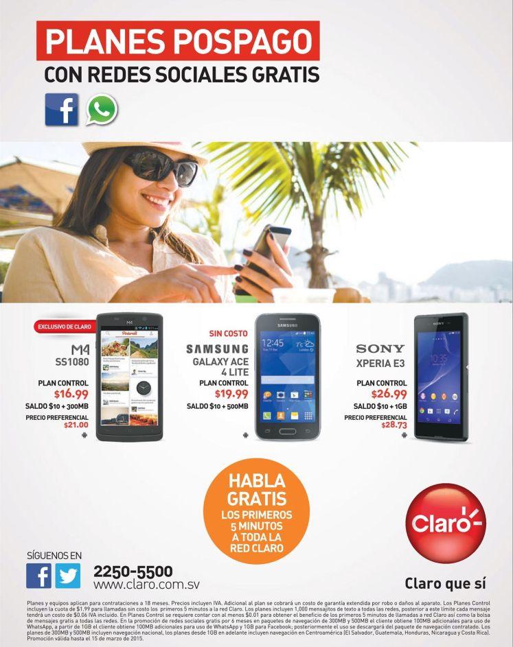 SNY xperia E3 promotions CLARO - 04mar15