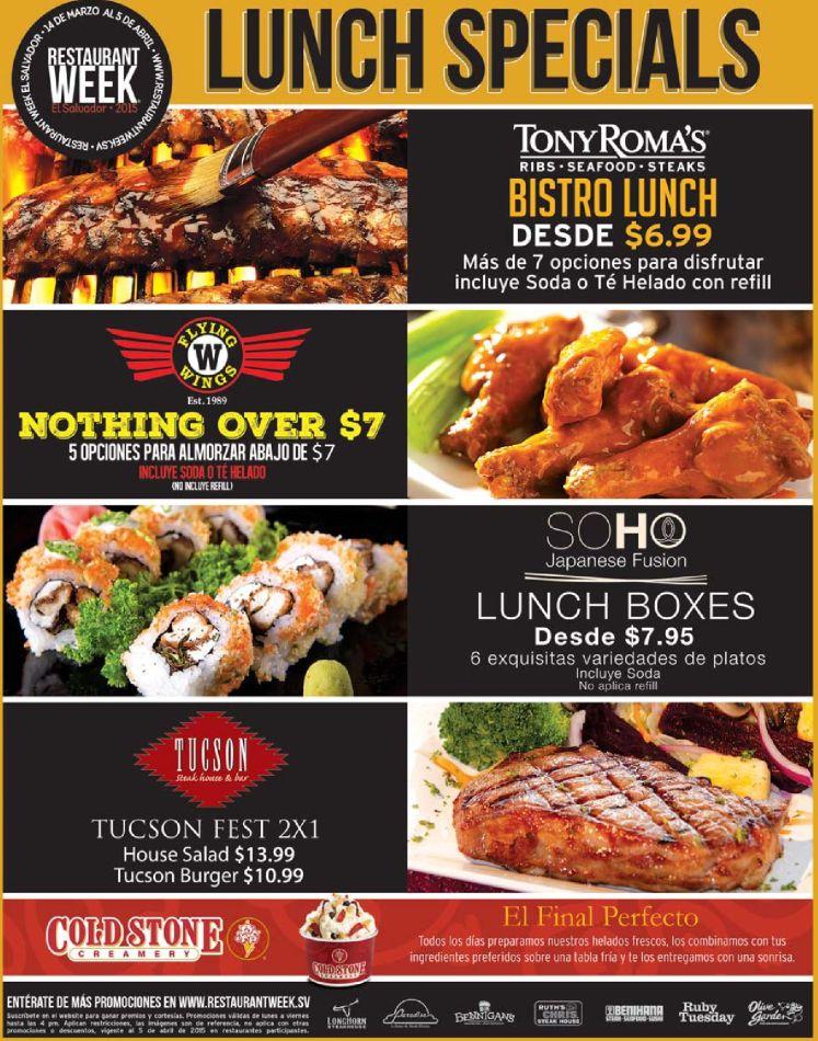 Special LUNCH offer restaurant WEEK multiplaza