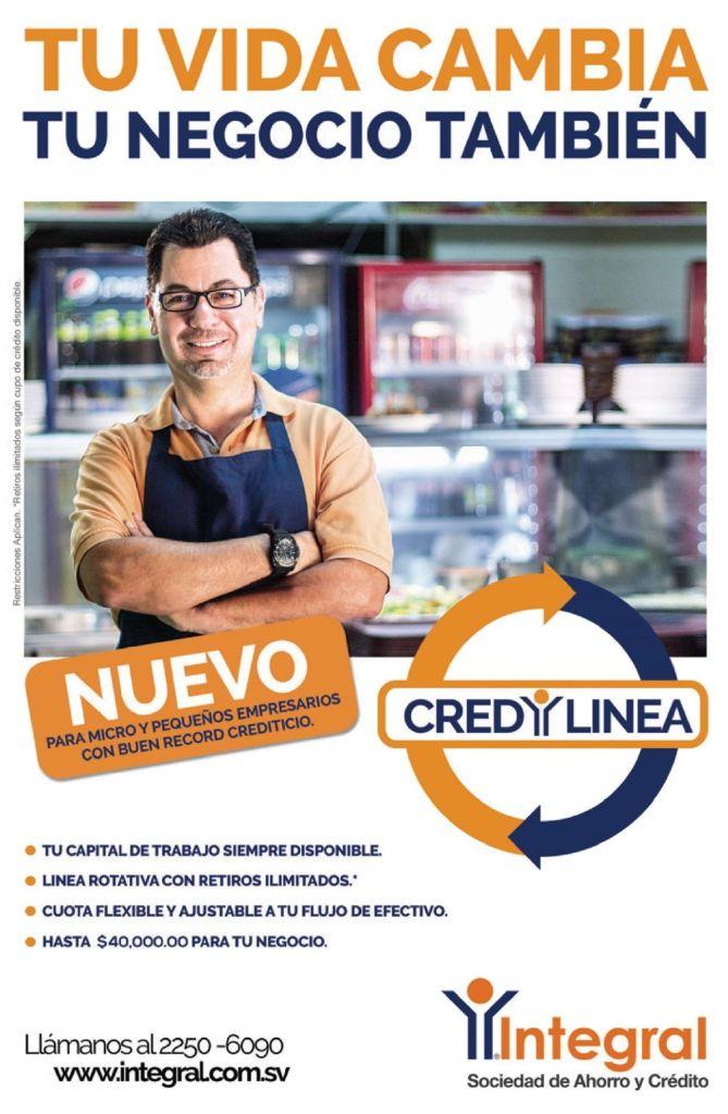 Tu vida cambia y Negocio tambien lineas de credito INTEGRAL